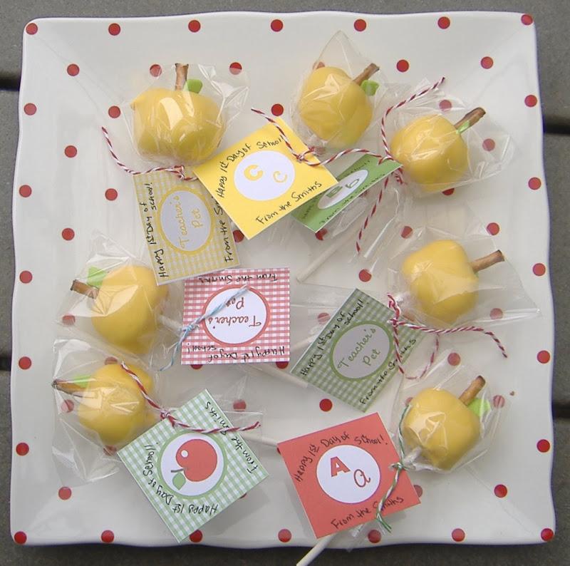 yellow apple cake pops