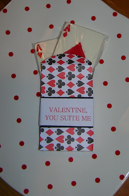 playing card chocolate Valentine box