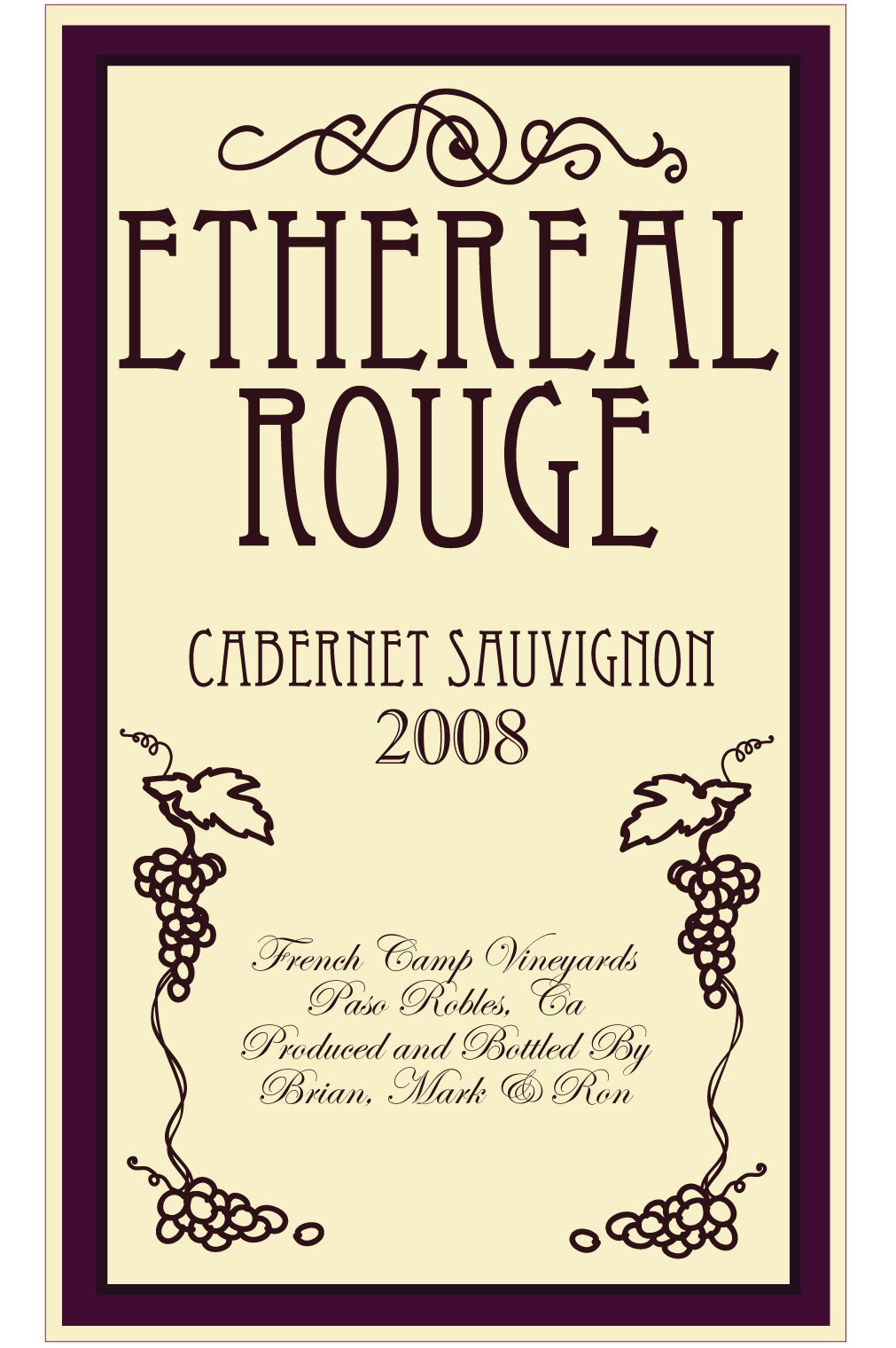 Sam's Sketchbook: Wine Bottle Label