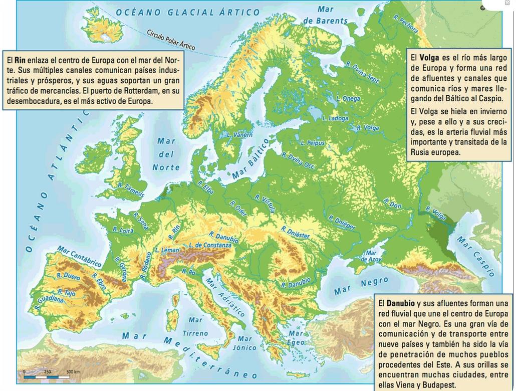 Mapa De Las Peninsulas De Europa