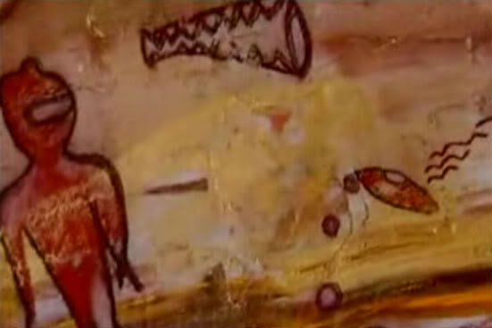 Ovnis en pinturas antiguas  Pinturarupestre+India