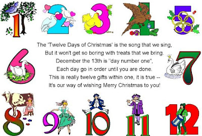 12 days of christmas clipart