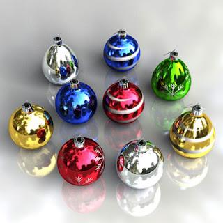 Colorful Christmas Balls Wallpapers