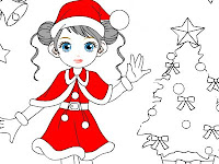 Barbie Dolls Coloring Pages For Christmas