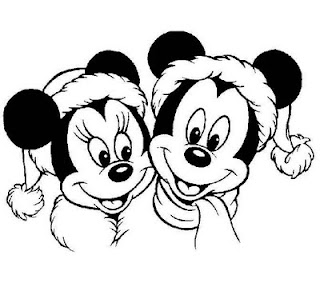 Mickey and Minnie Mouse Christmas Coloring Pages