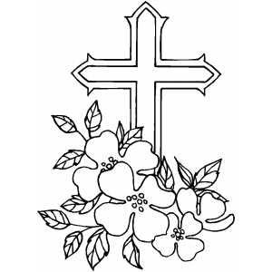 Christmas Cross Coloring Pages Xmas Jesus Cross Learn