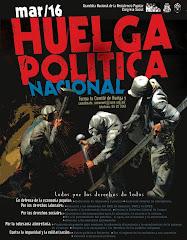TODOS A  LA HUELGA  NACIONAL