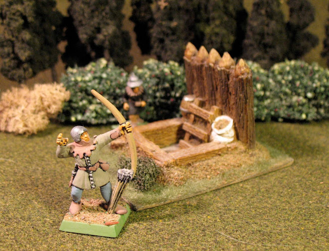 Bretonnian archer, mine shaft, Hussite crew man