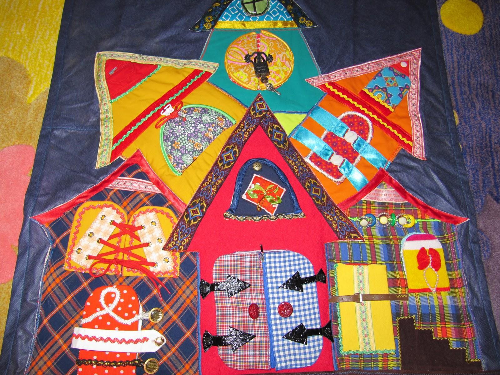 Развивающий коврик теремок своими руками фото