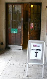 Door to registration at ECMI
