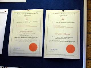 University of Bristol IMA Programme Approval Certificates