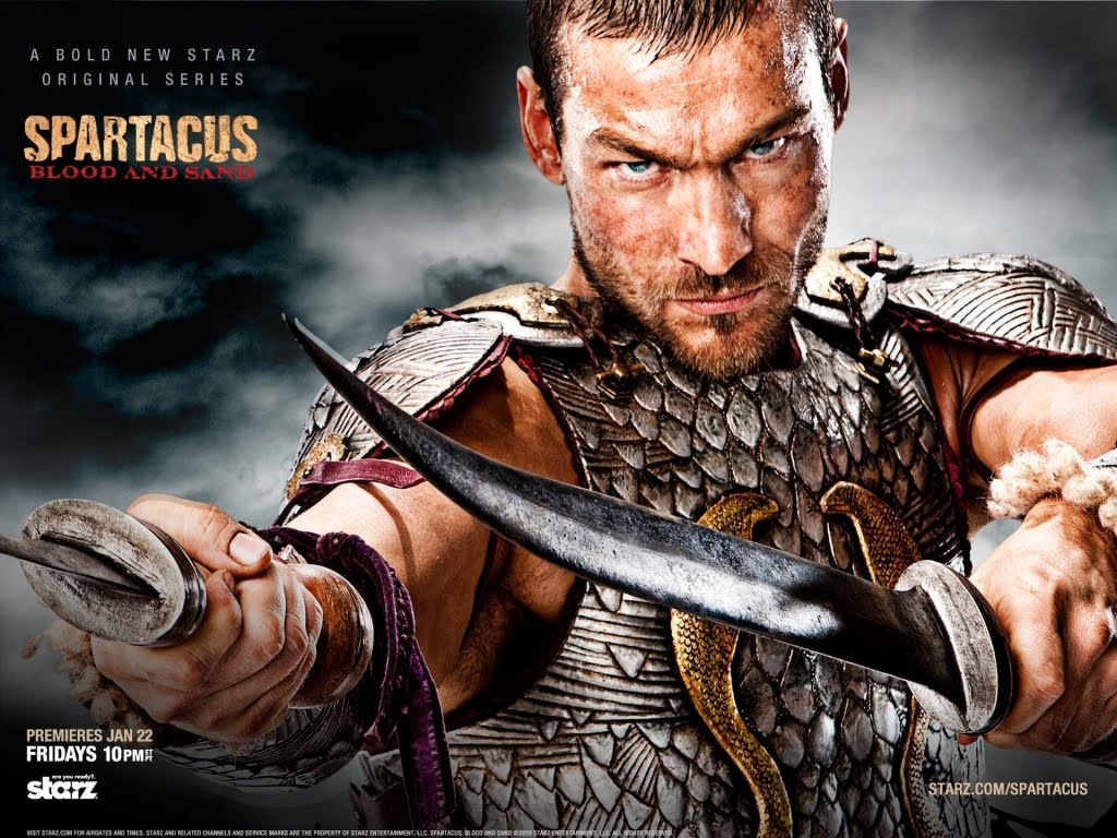 ... , Andy Whitfield - download besplatna pozadina za desktop TV serije