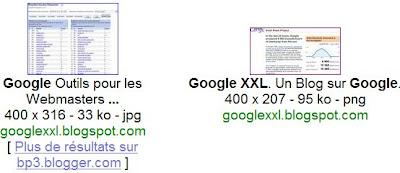 integration des images blogger dans google images