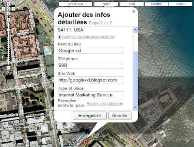 ajouter une adresse dans google maps