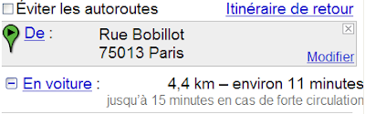 Google maps estimation de trafic