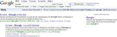 google recherche par date