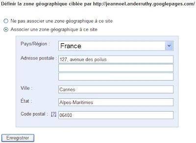 utils pour webmasters definir la zone géographique ciblee
