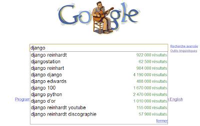 django reinhardt avec Google Suggest