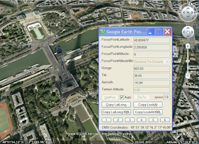 google earth position latitude longitude