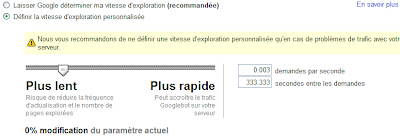 Vitesse d'exploration du GoogleBot