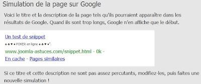 Snippet Google en ascii