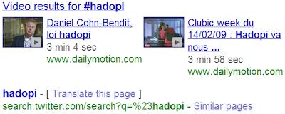 Twitter maintenant indéxé dans les pages de résultats de Google