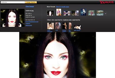 Aperçu des images dans Yahoo recherche d'images