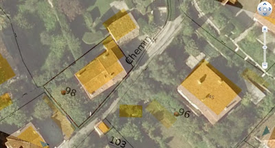 Le plan cadastral dans Google Earth