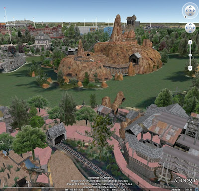 Disneyland Paris en 3D avec Google Earth