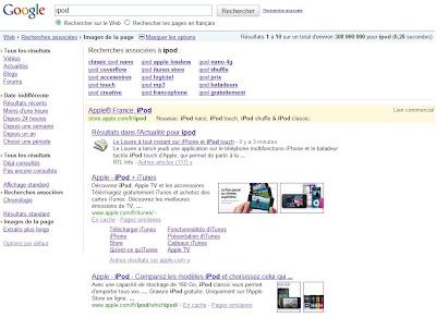 Google et les options de recherche