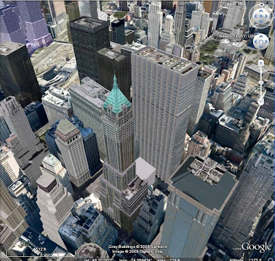 Manhattan dans Google Earth
