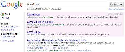 Changement de look pour Google AdWords