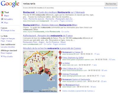 Changer de lieu avec Google