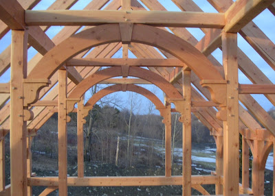 Post and beam construction by vermont timber works inc for Post and beam construction