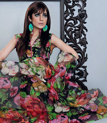 Indian Salwar Kameez with Latest Floral Designs, Stylish suits for Girls