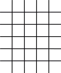 free square blank number grid
