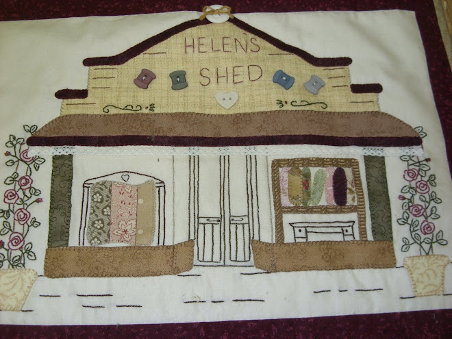 Helen's Shed Quilting Groups and a bit of Helen's exciting life!