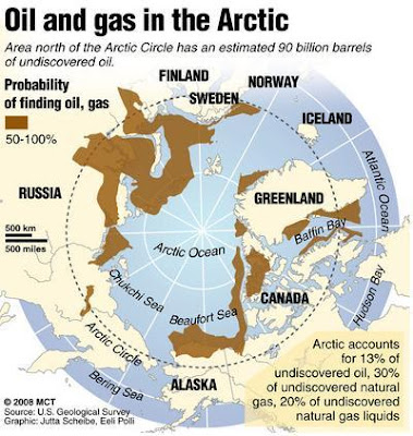 Map Oil and Gas Artic