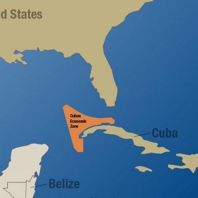 Zona petrolera en Cuba