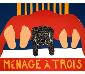 menage a trois dog