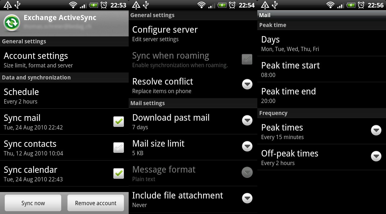 Phone Microsoft Exchange On Android Phone rigelt exchange activesync on android phones desire froyo froyo