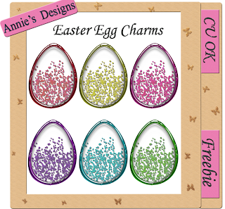 Easter Egg Charms - By: DigitalScrapbookLove Easter+egg+charms+preview