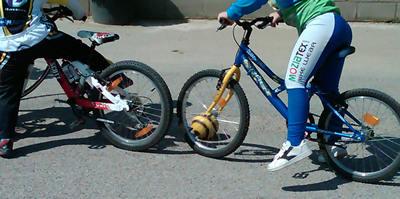bicicleta balon juego ciclismo