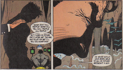 Of course, if Joe Chill had killed Batman's dad with a rock, maybe Batman would've fought the roots of poverty instead of crime, but who wants to see that?