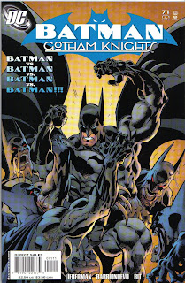 There's not even Batman vs. Batman vs. Batman in this issue.  Or Batman vs Batman.