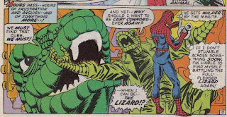 My son pointed out that they forgot Spidey's extra arms in this panel, but for Gil Kane I'll give him a pass.