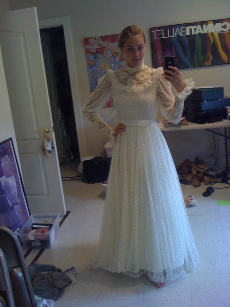 My wedding dress was hemmed too short