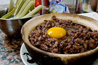Claypot Rice with Beef and Egg
