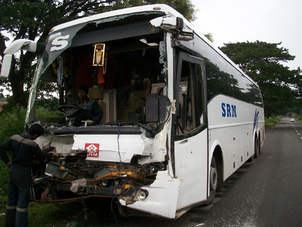 Volvo Bus Accident In India
