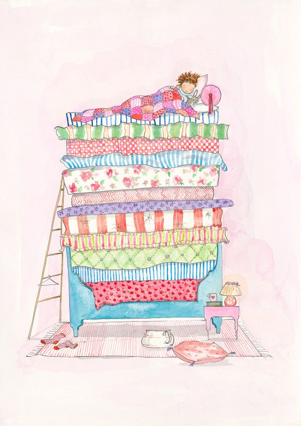 Princess And The Pea Illustration The princess and the pea